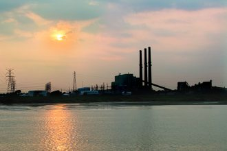 Coal ash from the now-retired Allen Fossil Plant is among the worst groundwater polluters, a new study finds. Credit: Tennessee Valley Authority