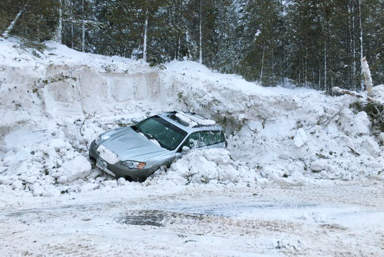 An avalanche buried three cars as it swept across Colorado's Highway 91 on March 7, 2018. Everyone was rescued. Credit: Colorado State Patrol