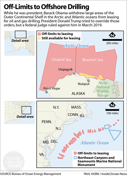 Map: Off-Limits to Offshore Drilling