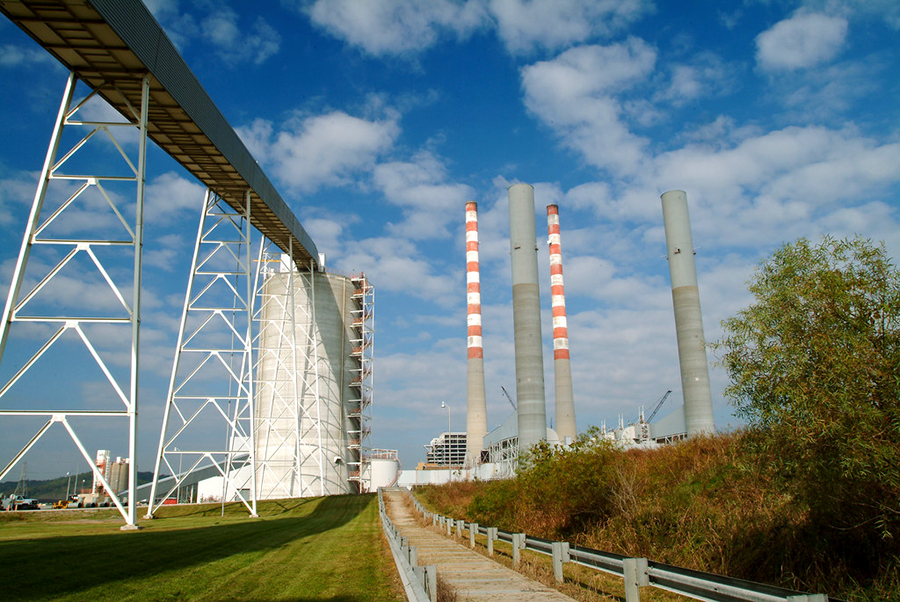 The Cumberland Fossil Plant in Cumberland City, Tennessee, is one of TVA's six coal-burning power plants. It plans to retire two of those plants within the next five years. Credit: TVA