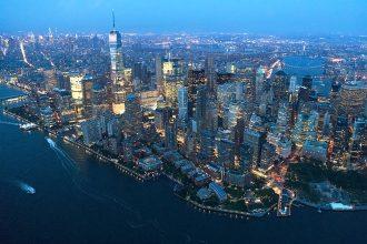 New York City skyline at dusk. Drew Angerer/Getty Images