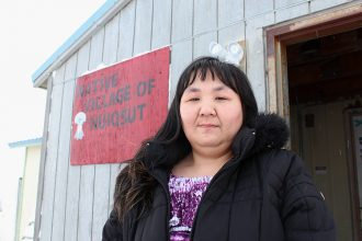 Martha Itta outside the Native Village of Nuiqsut office. Credit: Sabrina Shankman/InsideClimate News
