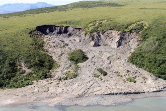 Thawing permafrost. Credit: National Park Service