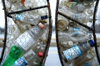 Plastic waste. Credit: Brendan Smialowski/AFP/Getty Images