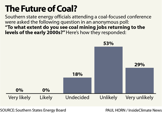 Chart: Results of a poll at the conference on coal's future