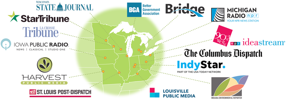 Midwest region climate change reporting project: 14 newsrooms