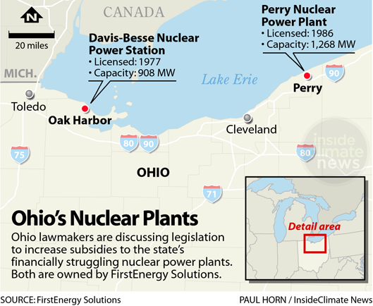 Map: Ohio's Nuclear Plants