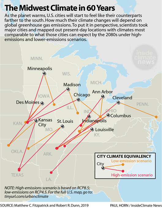 Infographic: The Midwest's Climate in 60 Years