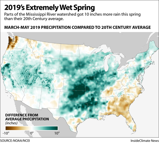 Map: 2019's Extreme Wet Spring