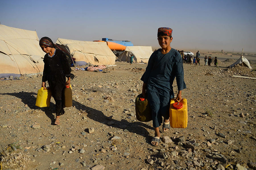 In Afghanistan, hundreds of thousands of people were displaced by the worst drought in decades. Credit: Hoshang Hashimi/AFP/Getty Images
