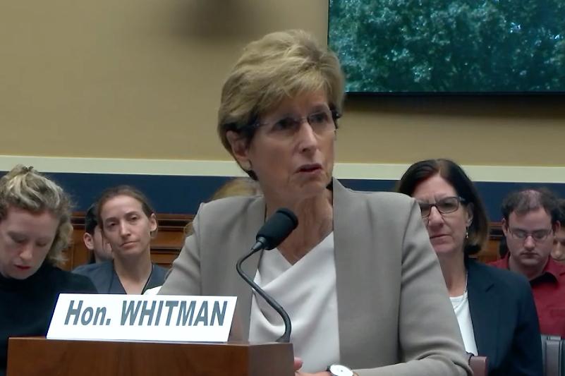 Christine Todd Whitman, EPA administrator in the George W. Bush administration. Credit: Congress