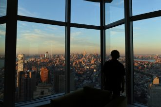 Looking out over New York City and the state beyond. Credit: Gary Hershorn/Getty Images