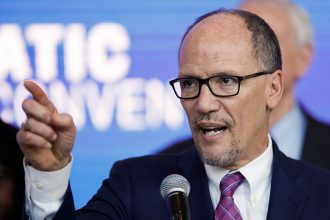 Democratic National Committee Chairman Tom Perez rejected requests for a debate entirely about climate policy, saying if that was allowed, advocates on every issue would want their own debate. Credit: Kamil Krzaczynski/AFP/Getty Images