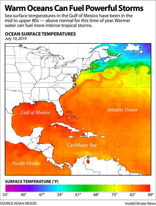Map: Warm Oceans Can Fuel Powerful Storms