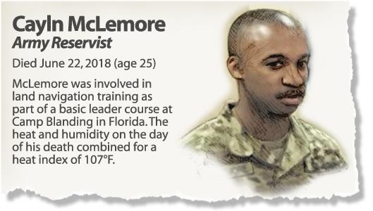 Profile: Reservist Cayln McLemore