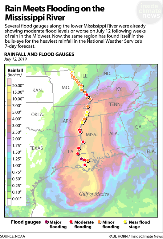 Map: Extreme Weather Double-Whammy on the Mississippi River