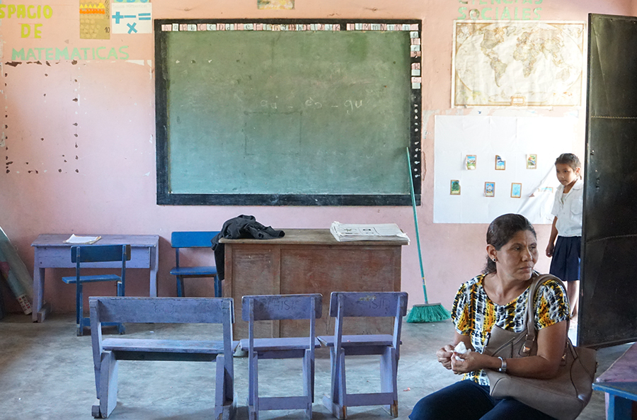 The village school in Los Planes, north of El Rosario, on a recent afternoon. Credit: Georgina Gustin/InsideClimate News