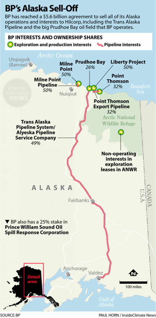 Map: BP's Alaska Sell-Off
