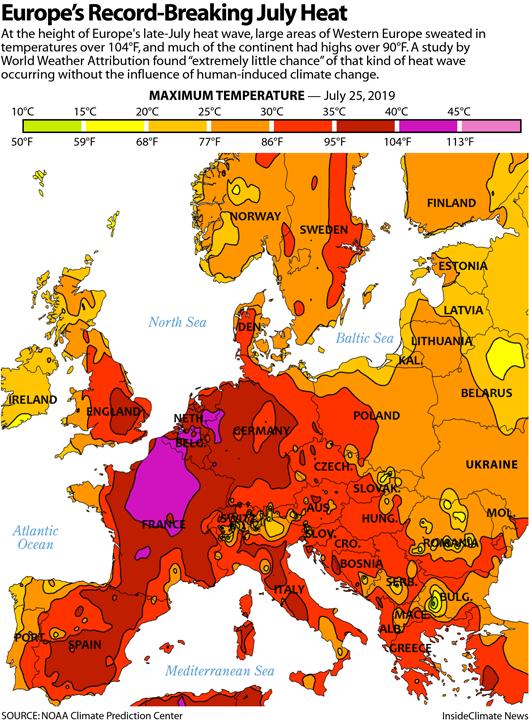 Map: Europe's Record-Breaking July Heat