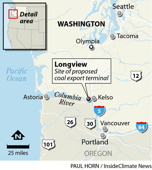 Map: Proposed coal export terminal