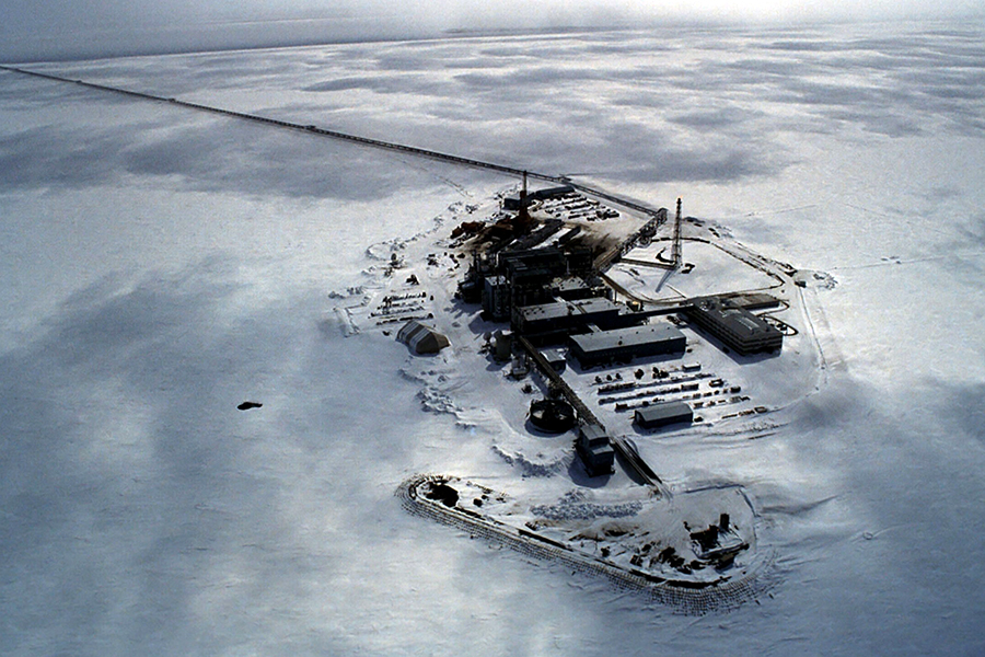 Some of BP's facilities at Prudhoe Bay, shown in 2006. Infrastructure at Prudhoe Bay is also used by other oil operations on Alaska's North Slope. Credit: BP via Getty Images