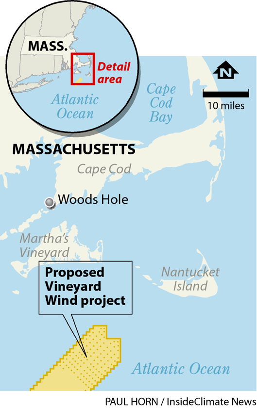 Map: Vineyard Wind Project