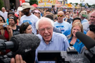 Bernie Sanders at the Iowa State Fair. Credit: Alex Edelman/AFP/Getty Images