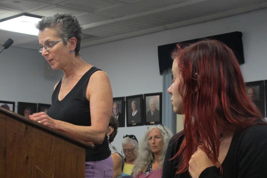 Roberta Zuckerman speaks at the City Council meeting. Credit: Sabrina Shankman