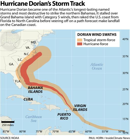 Chart: Hurricane Dorian's Storm Track