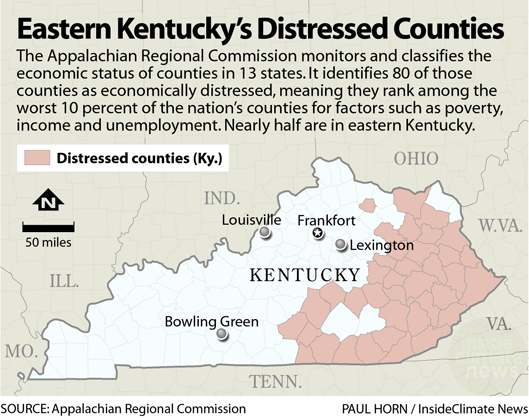 Chart: Eastern Kentucky's Distressed Counties