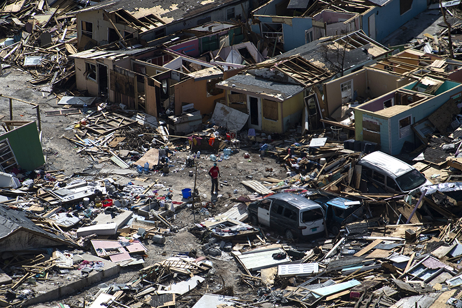 More than half the homes on Grand Bahama and Great Abaco islands were damaged or destroyed in the hurricane, including most of the homes in shantytowns like The Mudd. Credit: Carolyn Van Houten/The Washington Post via Getty Images