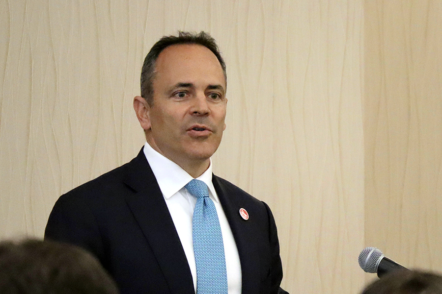 Kentucky Gov. Matt Bevin, who hosted the Southern States Energy Board meeting. Credit: James Bruggers