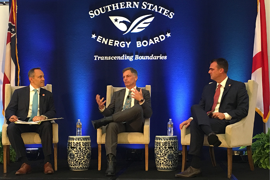 Governors of Kentucky, Wyoming and Oklahoma attended the Southern States Energy Board meeting. Credit: James Bruggers