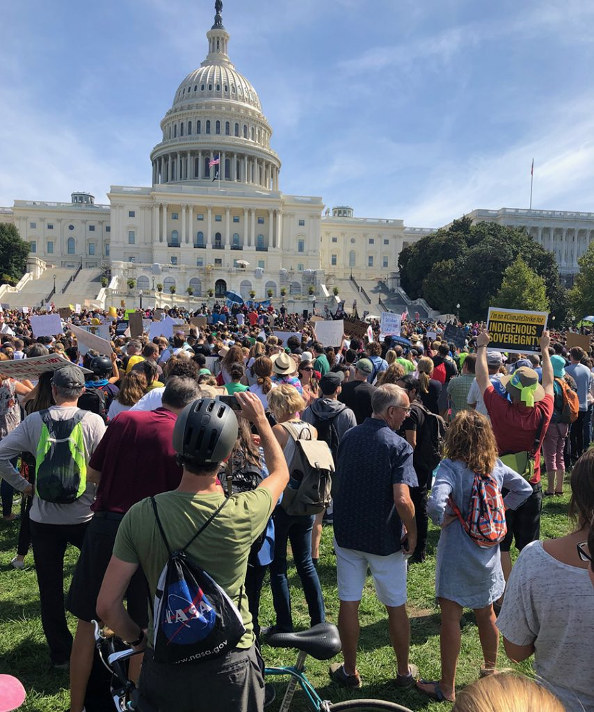 A climate strike outside the U.S. Capitol on Sept. 20, 2019. Credit: Georgina Gustin/InsideClimate News