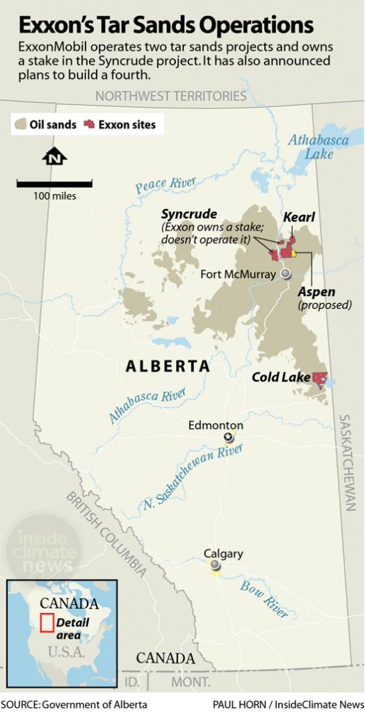 Exxon's tar sands operations