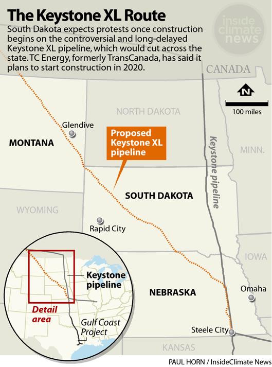 Map: Keystone XL Route