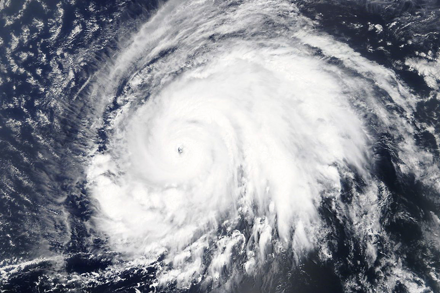 Hurricane Lorenzo on Sept. 28, 2019, became the strongest hurricane on record in the eastern-most Atlantic Ocean as it headed toward the Azores. Credit: NASA Worldview, Earth Observing System Data and Information System