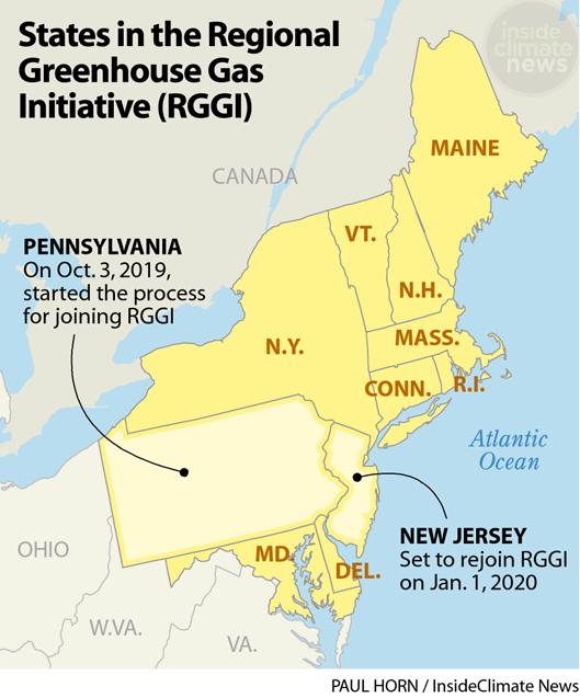 Map: RGGI Member States