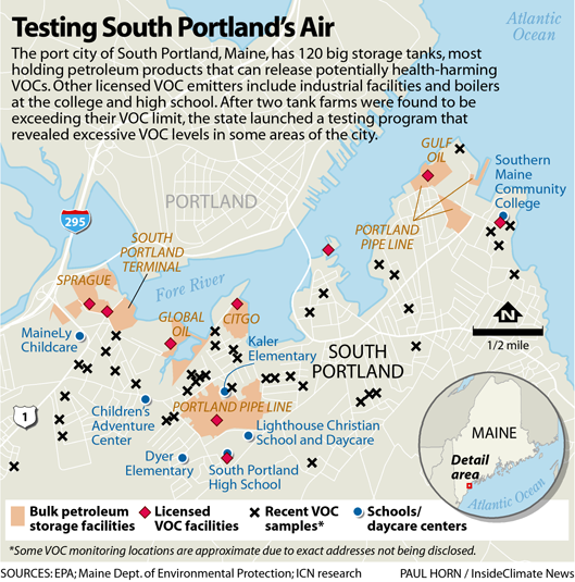 Map: Testing South Portland's Air