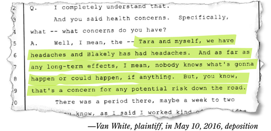 Quote from deposition