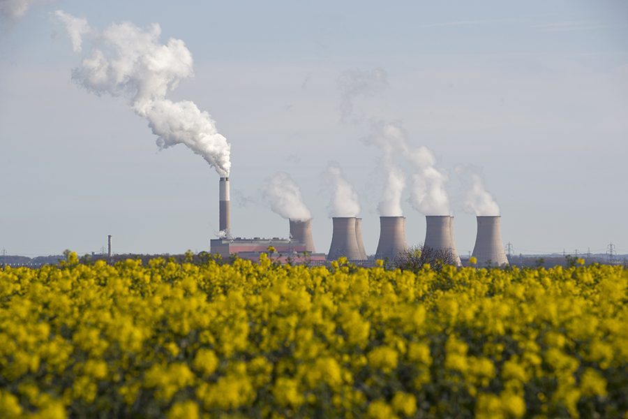 The Cottam Power Station in Nottinghamshire closed on Sept. 30, 2019, leaving the UK with five operational coal-fired power plants. Credit: Oli Scarff/AFP/Getty Images