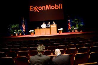 Exxon investor meeting. Credit: Brian Harkin/Getty Images