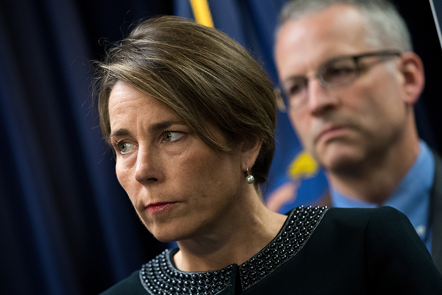 After a four-year investigation, Massachusetts Attorney General Maura Healey filed suit against Exxon on Oct. 24, accusing the oil giant of misleading investors with its disclosures and the public through its advertising. Credit: Drew Angerer/Getty Images