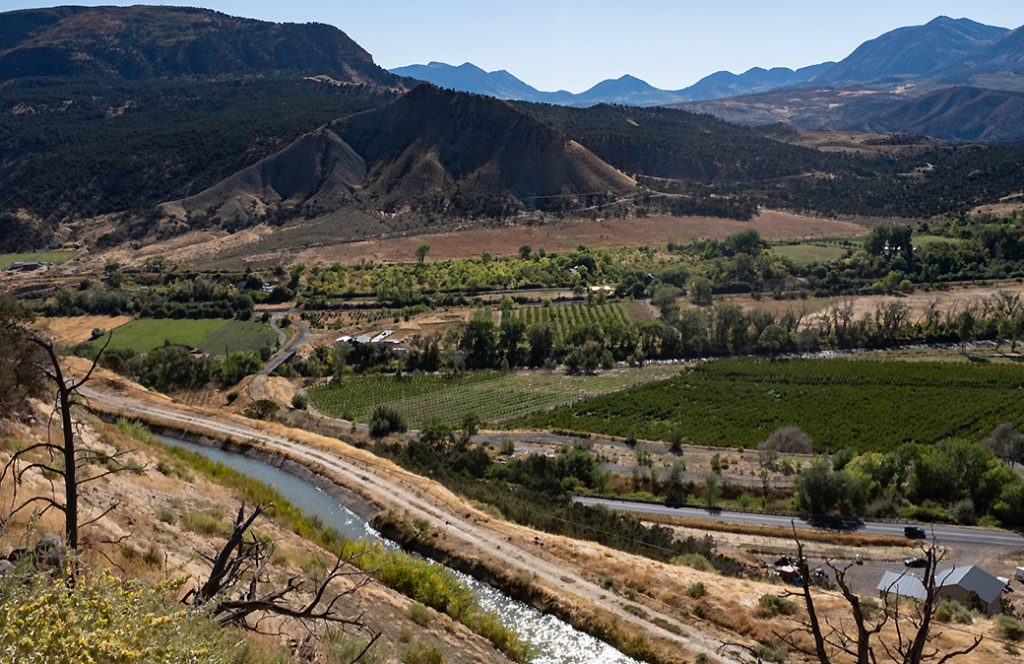 Farms in Colorado's North Fork Valley rely on snowmelt. Credit: Jutta Strohmaier