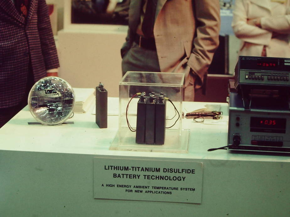 M. Stanley Whittingham's rechargeable battery. Courtesy of Kevin White