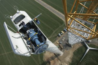 Wind turbine construction. Credit: Sean Gallup/Getty Images