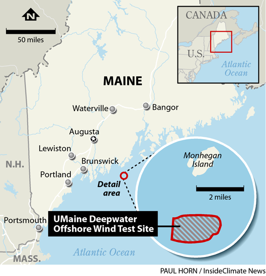 Locator: Maine's First Offshore Wind Project