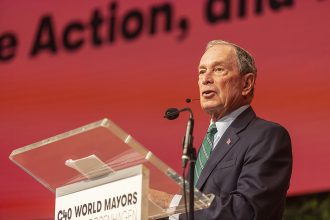Michael Bloomberg, the former mayor of New York and UN climate envoy, has led the international C40 cities group focused on climate action. Credit: Ole Jensen/Getty Images