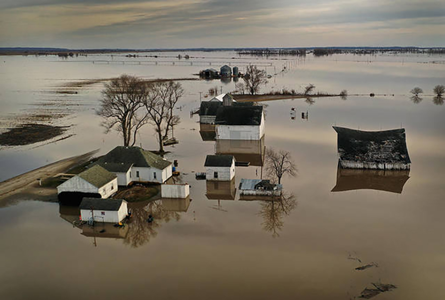Midwest flooding in the spring of 2019 in Craig, Missouri. Credit: Scott Olson/Getty Images