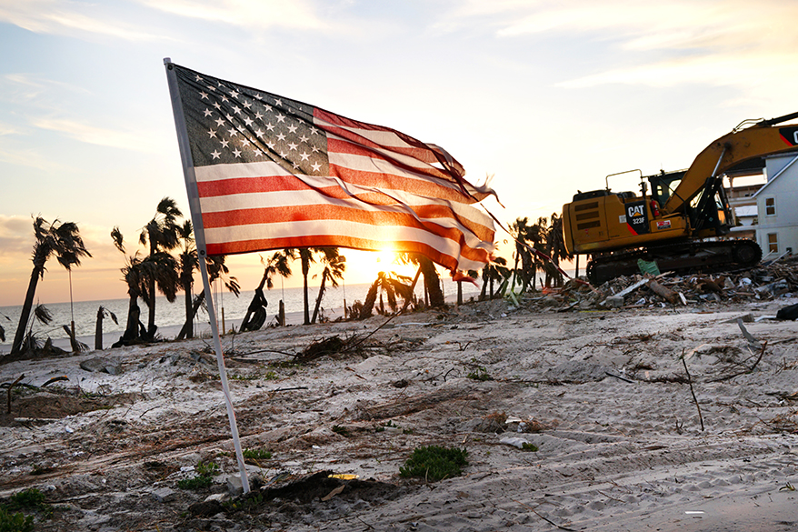 Mexico Beach, Florida, after Hurricane Michael. Credit: Anna Belle Peevey